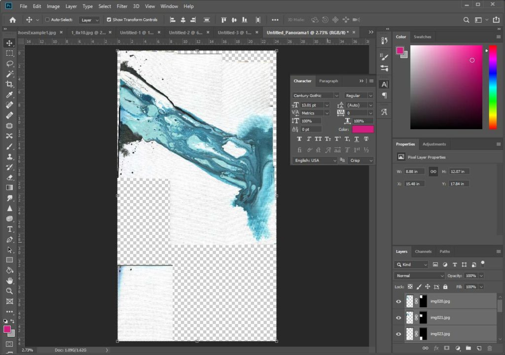 How to Turn Artwork Into Prints - How to use Photomerge in Adobe Photoshop CC 20 - Finished merge example