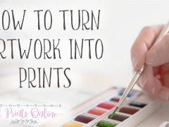How to Turn Artwork Into Prints, How to turn paintings into prints
