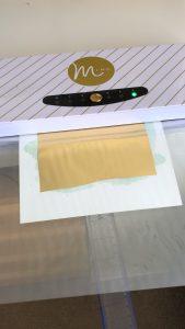 How to make a gold foil print - feed the print through the minc machine